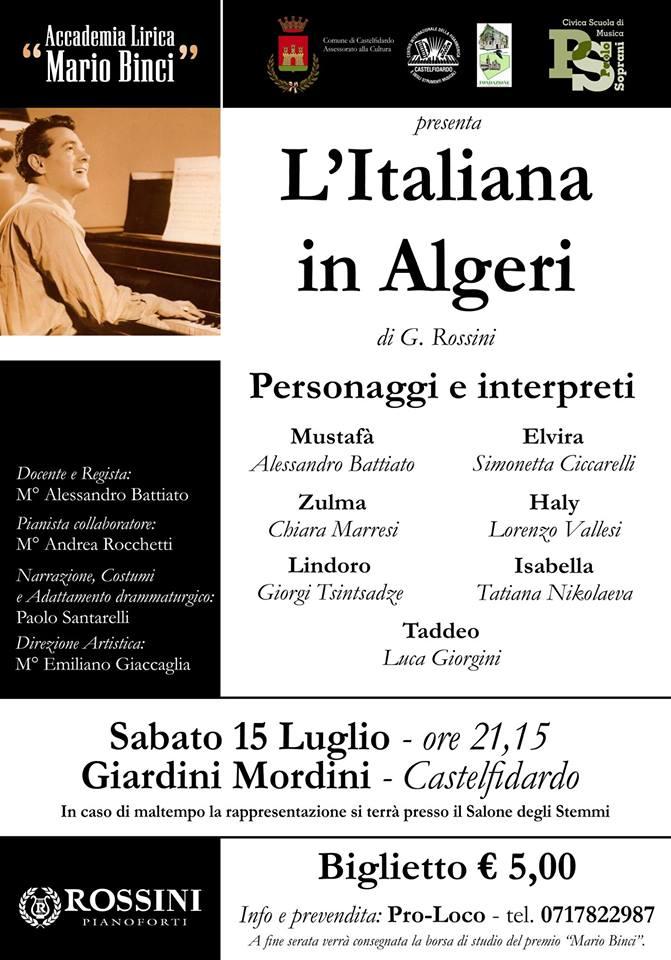 L`Italiana in Algeri, prevendite in corso