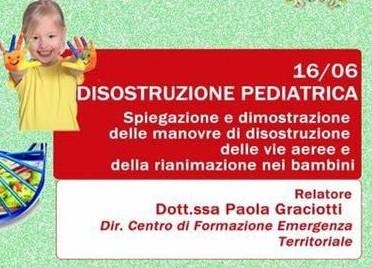 Manovre di disostruzione pediatrica alla Croce Verde