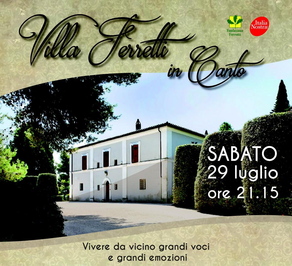 Villa Ferretti in Canto, prevendite in corso