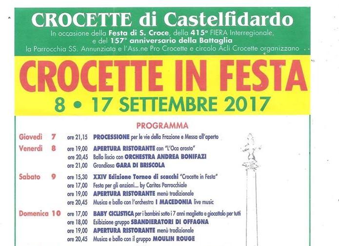 Crocette in festa dal 7 al 17 settembre