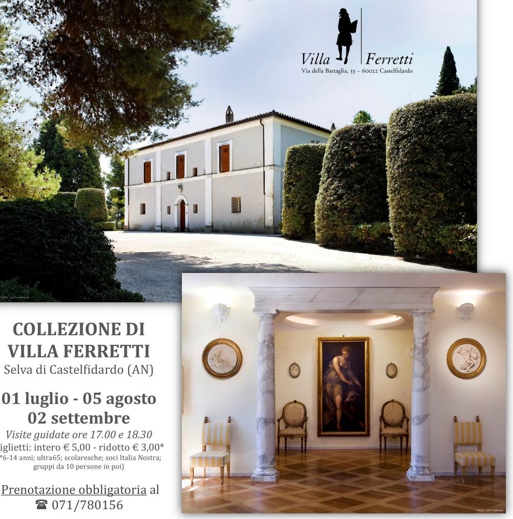 Villa Ferretti, visite guidate sabato 5 agosto