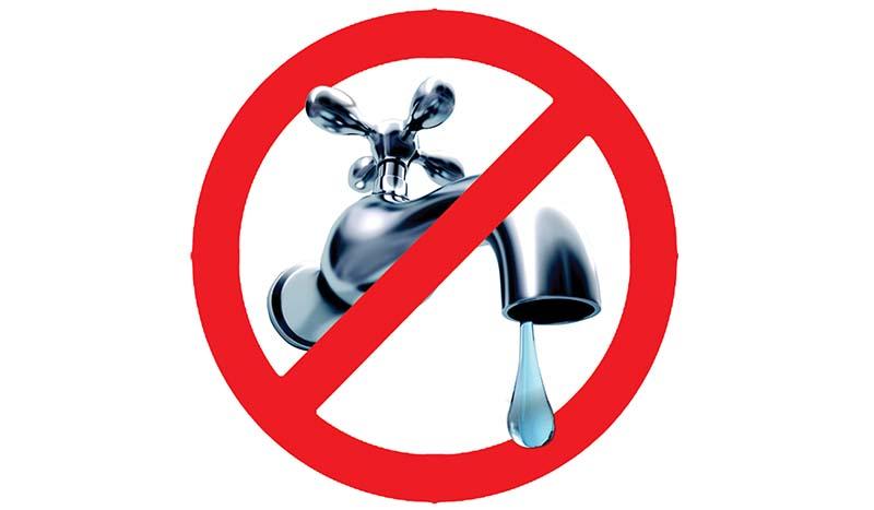 Interruzione erogazione acqua dalle 24.00 alle 10.00