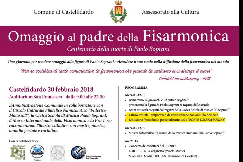 Omaggio al padre della fisarmonica Paolo Soprani