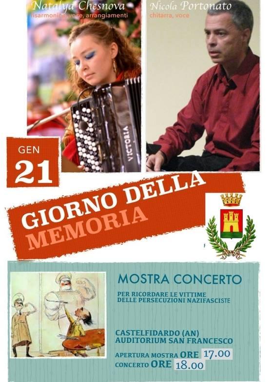 Domenica mostra-concerto per il giorno della memoria