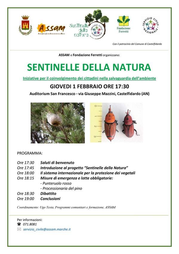 Sentinelle della natura giovedì in Auditorium