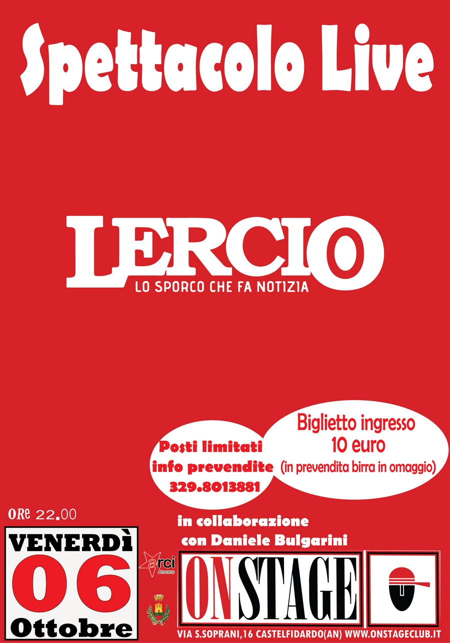 Lercio live venerdì all`On stage, ci siamo