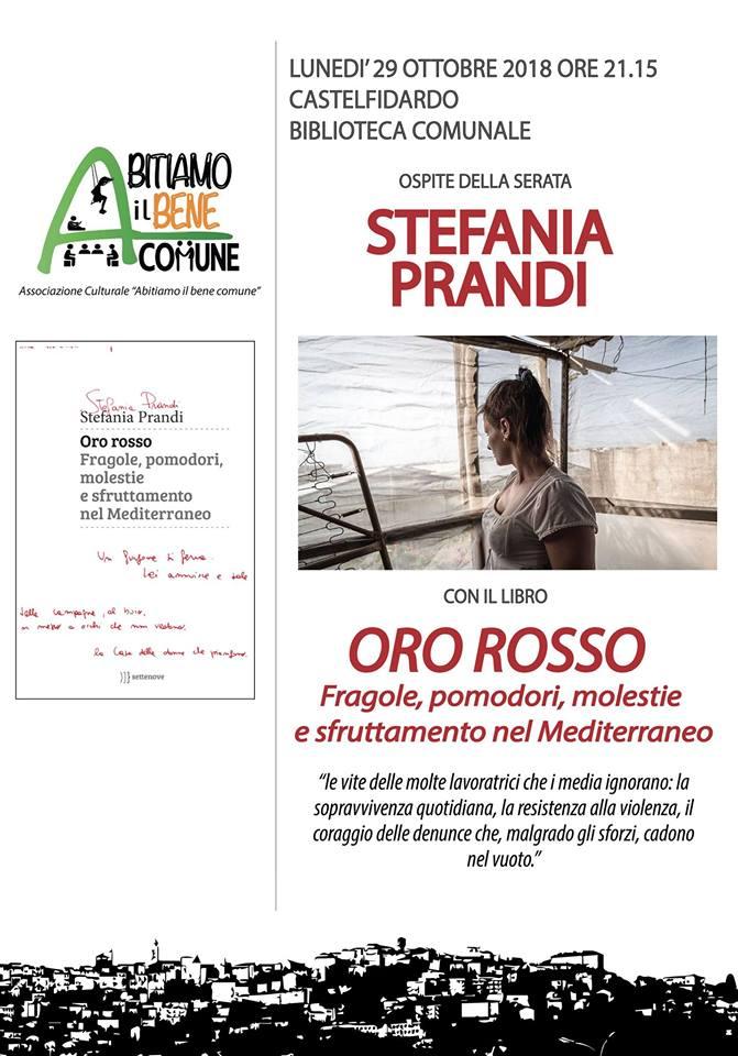 Stefania Prandi lunedì sera in biblioteca
