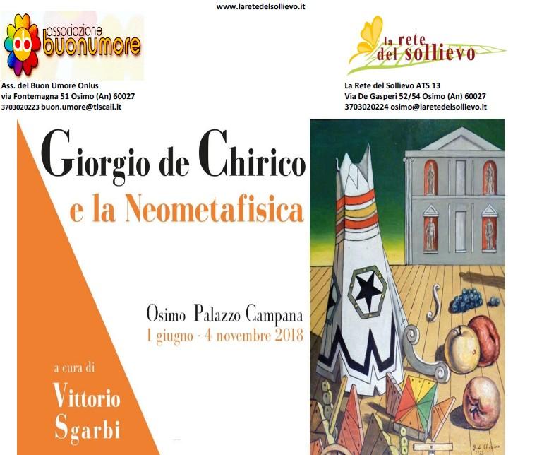 """Progetto Sollievo e Buon umore alla mostra """"De Chirico"""""""