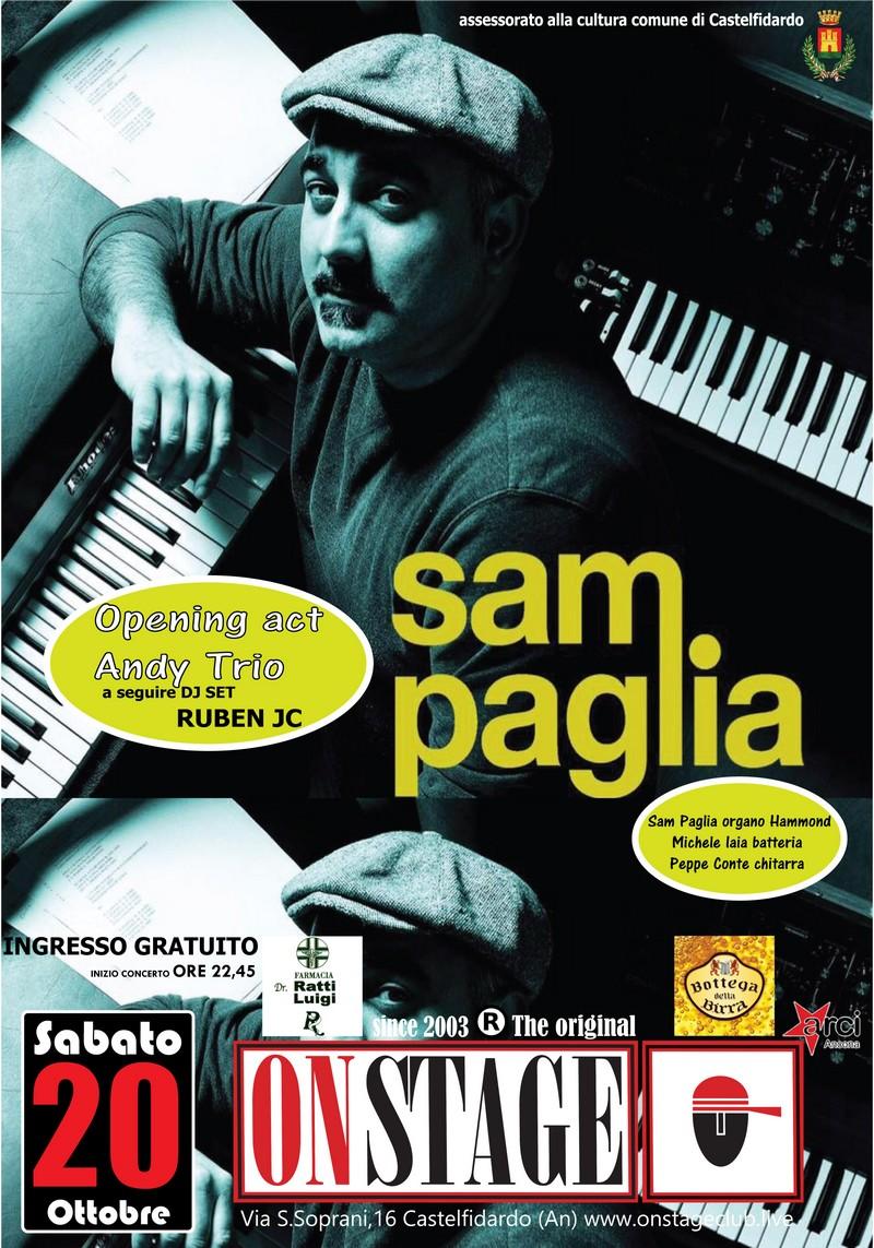 Sam Paglia trio sabato all`On Stage club