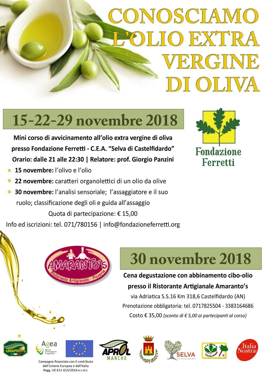Un mini corso per conoscere l`olio d`oliva