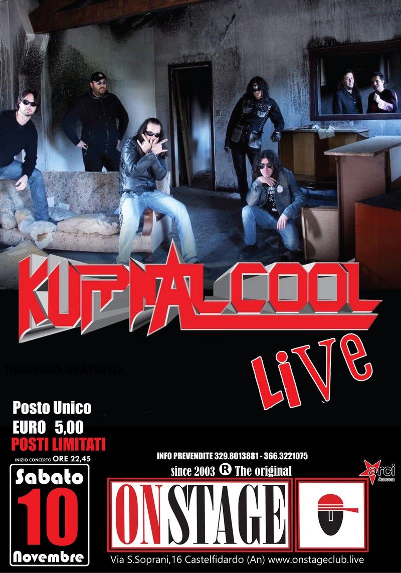 I Kurnacool sabato all`On Stage