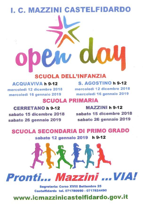Open day e incontri con le famiglie all`I.C. Mazzini