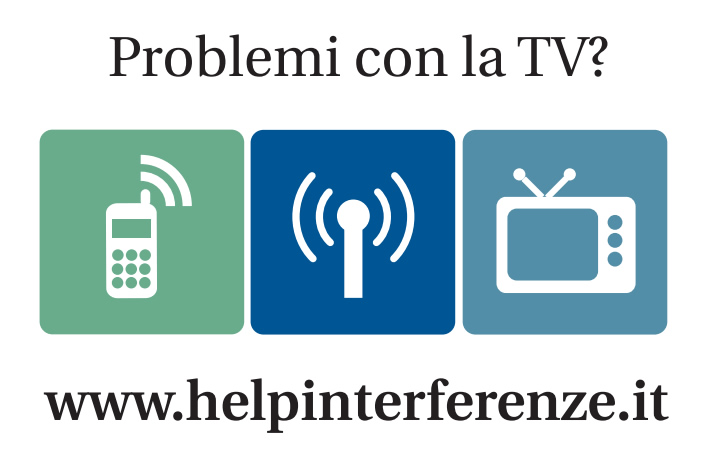 interferenze tra segnale TV e reti di telefonia mobile.