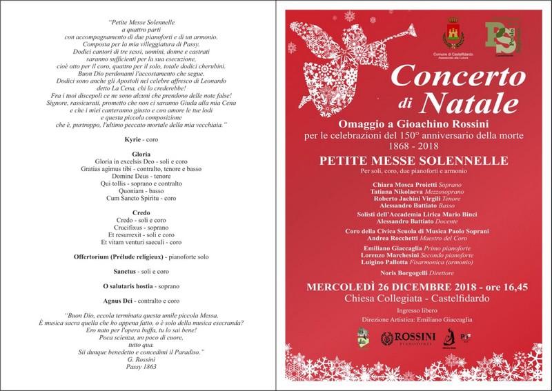 Il concerto di Natale omaggia Rossini