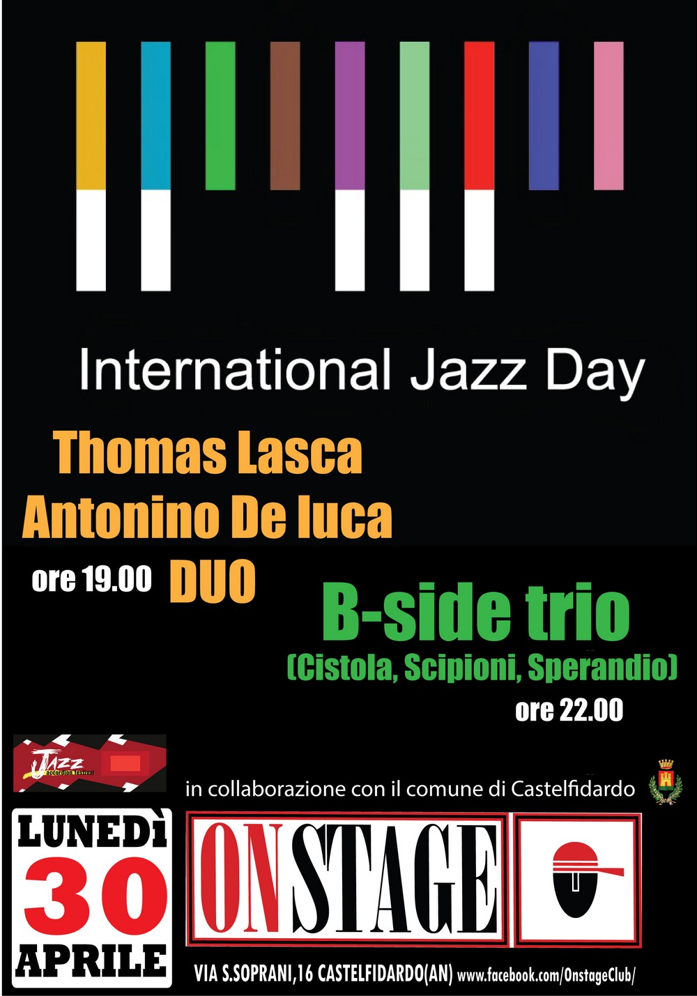 Giornata mondiale del Jazz lunedì all`On Stage