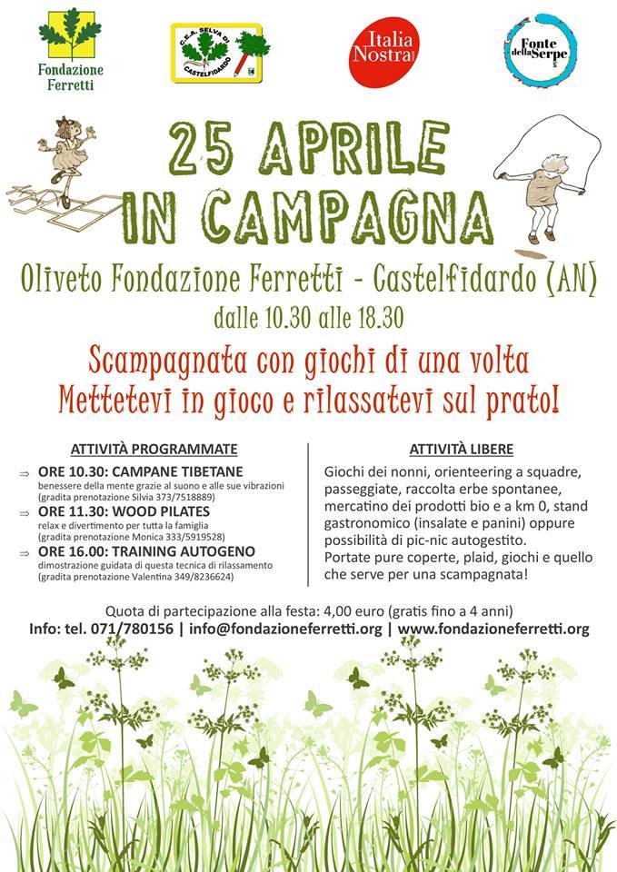 XXV Aprile in campagna con la Fondazione Ferretti