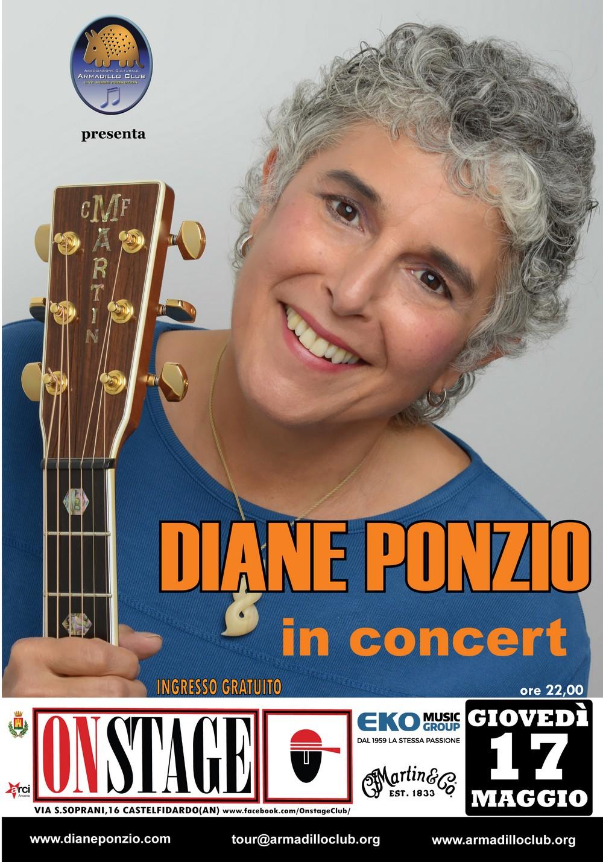 Diane Ponzio giovedì all`On Stage