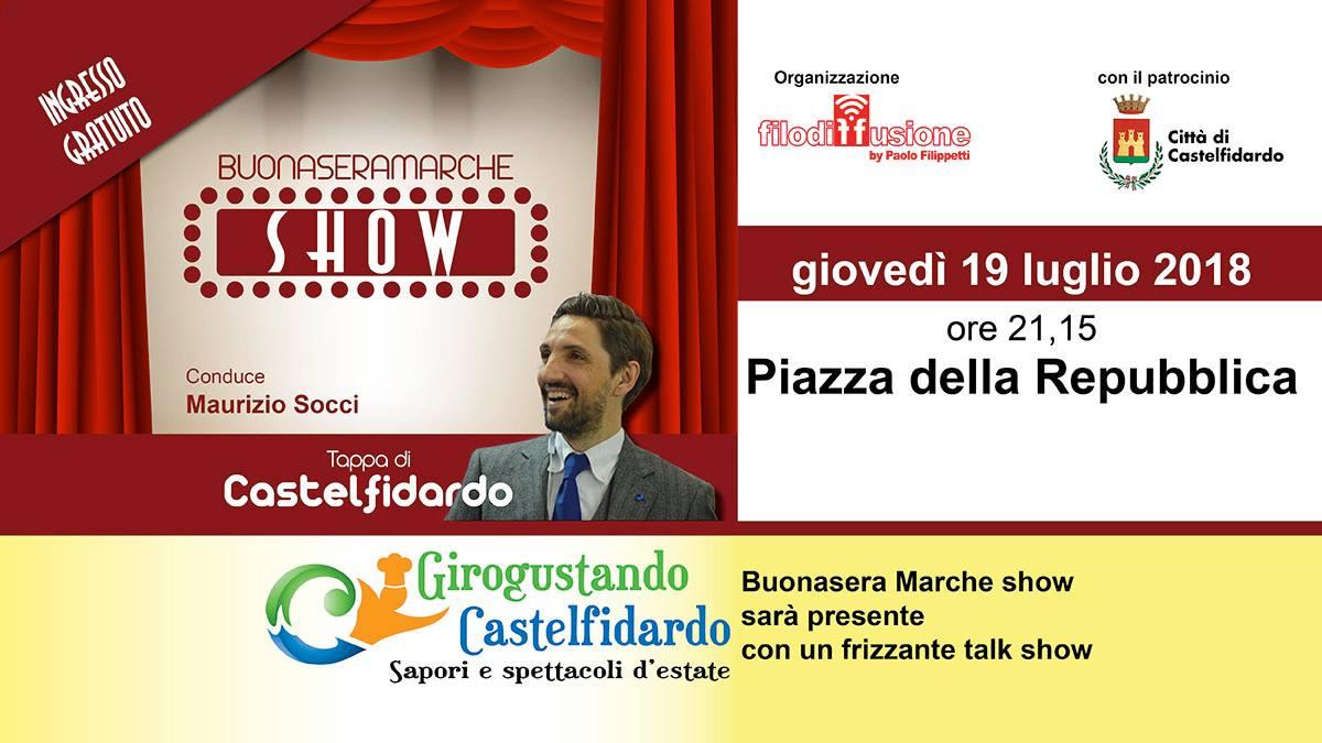 Buonasera Marche show a Girogustando