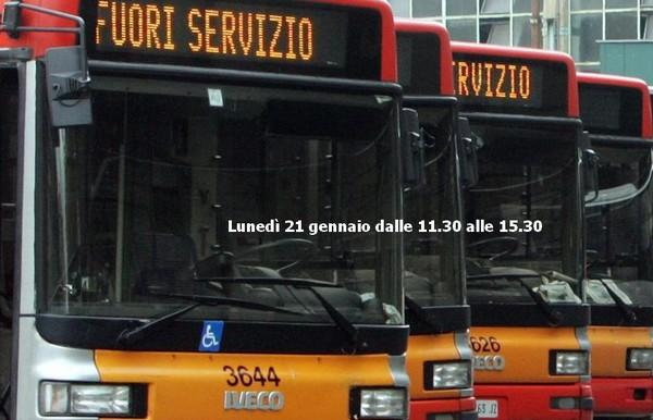 Lunedì sciopero del trasporto pubblico locale di 4 ore