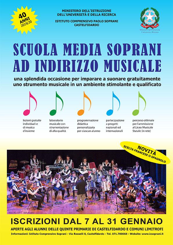 Scuola media Soprani ad indirizzo musicale